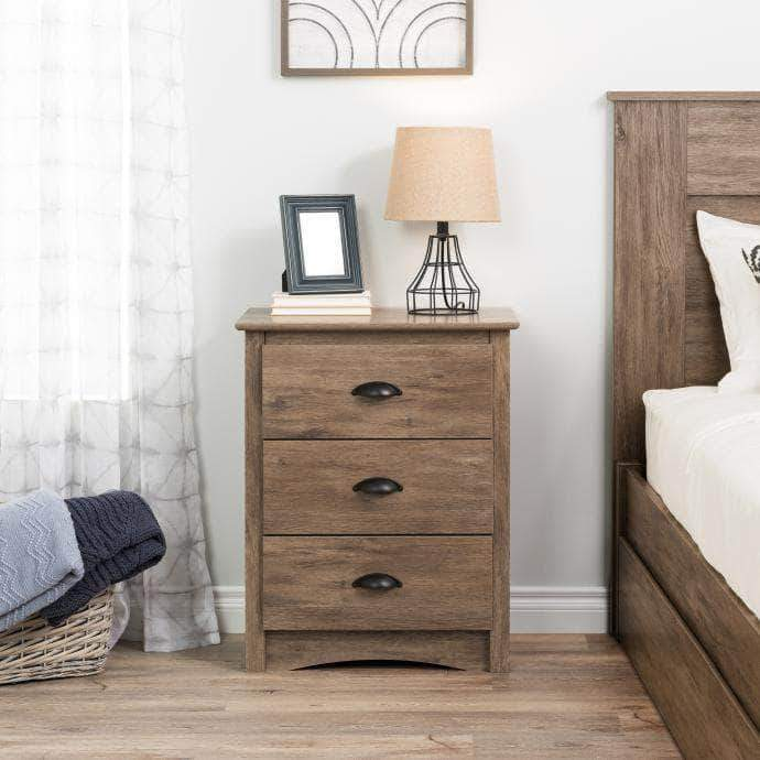 Modubox Sonoma Bedroom Drifted Grey Sonoma 3-drawer Tall Nightstand - Multiple Options Available