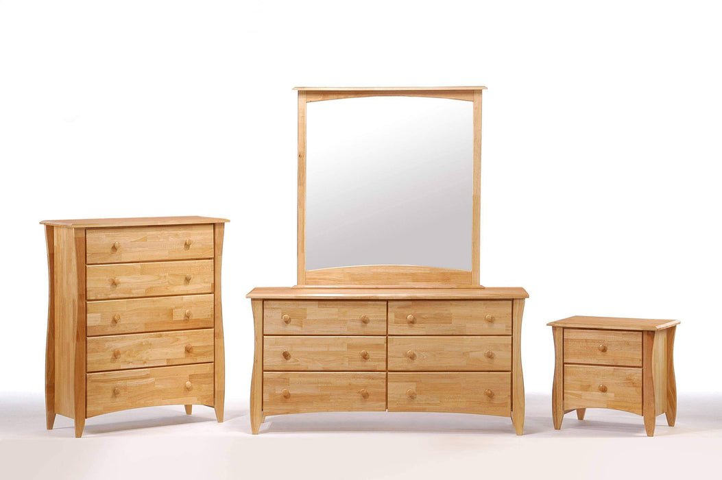 Night and Day Bedroom Set Natural Clove 4 Piece Casegood Set - Available in 6 Colours