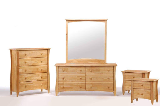 Night and Day Bedroom Set Natural Clove 5 Piece Casegood Set - Available in 6 Colours