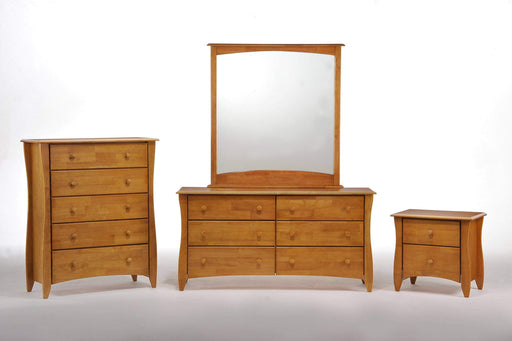 Night and Day Bedroom Set Oak Clove 4 Piece Casegood Set - Available in 6 Colours