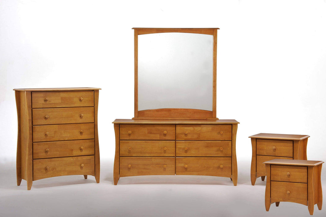 Night and Day Bedroom Set Oak Clove 5 Piece Casegood Set - Available in 6 Colours