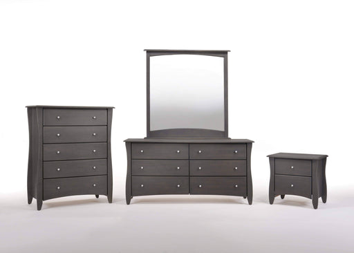 Night and Day Bedroom Set Stonewash Clove 4 Piece Casegood Set - Available in 6 Colours