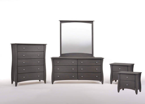 Night and Day Bedroom Set Stonewash Clove 5 Piece Casegood Set - Available in 6 Colours