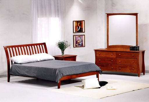 Night and Day Bedroom Set Twin / Cherry Nutmeg 6 Piece Platform Bedroom Set - Available in 6 Colours