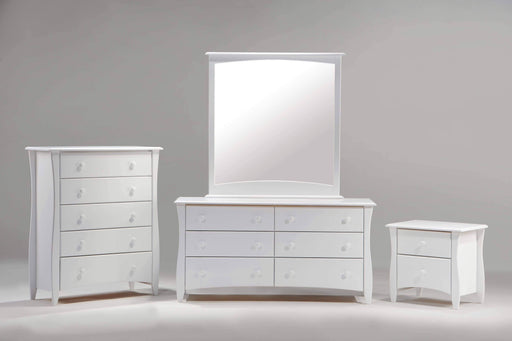 Night and Day Bedroom Set White Clove 4 Piece Casegood Set - Available in 6 Colours
