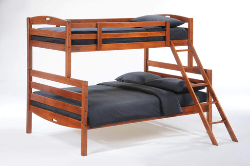 Night and Day Bunk Bed Cherry Sesame Twin Over Full Bunk Bed - Available in 3 Colours