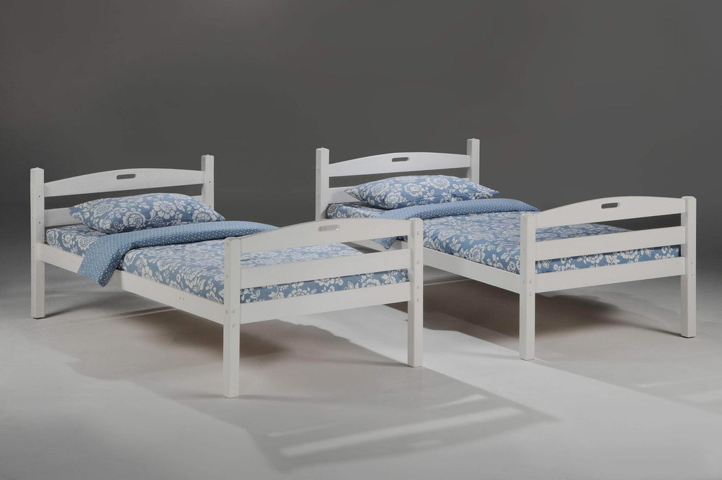 Night and Day Bunk Bed Cherry Sesame Twin Over Twin Bunk Bed - Available in 3 Colours