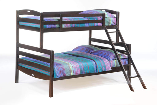 Night and Day Bunk Bed Chocolate Sesame Twin Over Full Bunk Bed - Available in 3 Colours
