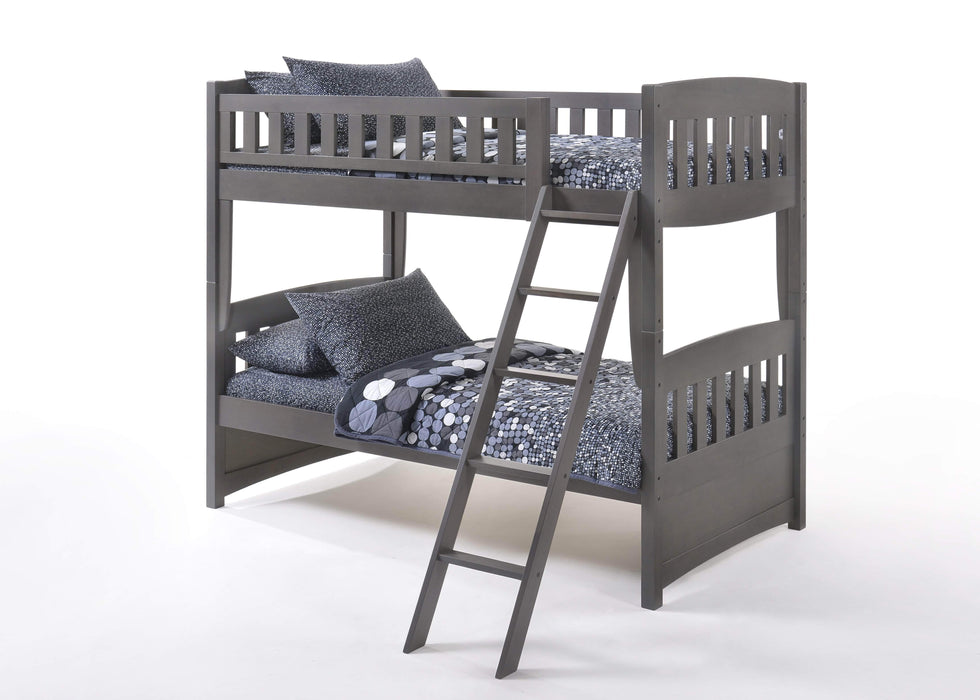 Night and Day Bunk Bed Stonewash Cinnamon Twin Over Twin Bunk Bed - Available in 5 Colours