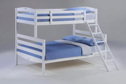 Night and Day Bunk Bed White Sesame Twin Over Full Bunk Bed - Available in 3 Colours