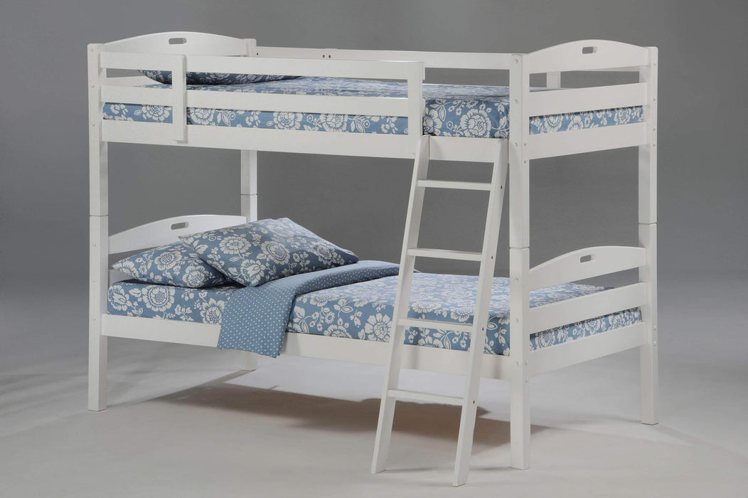 Night and Day Bunk Bed White Sesame Twin Over Twin Bunk Bed - Available in 3 Colours