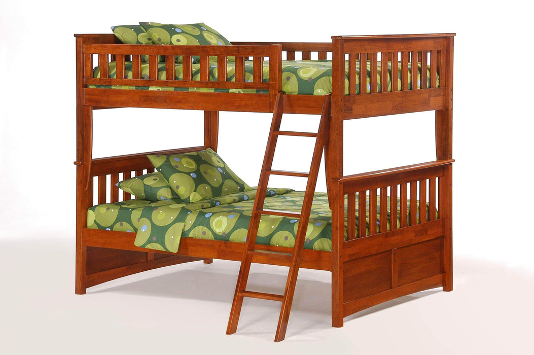 Night and Day Cherry Ginger Full Over Full Bunk Bed - Available in 4 Colours