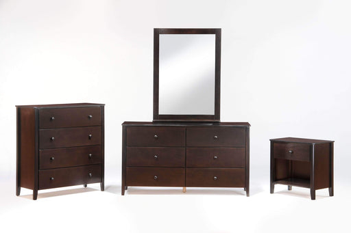 Night and Day Chocolate Zest 4 Piece Casegood Set