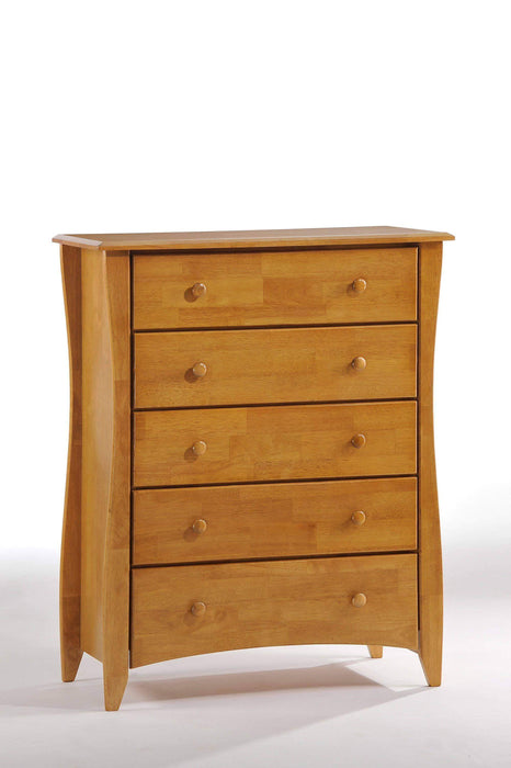 Night and Day Drawer Chest Oak Clove Chest - Available in 6 Colours
