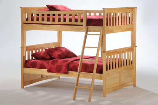 Night and Day Natural Ginger Full Over Full Bunk Bed - Available in 4 Colours