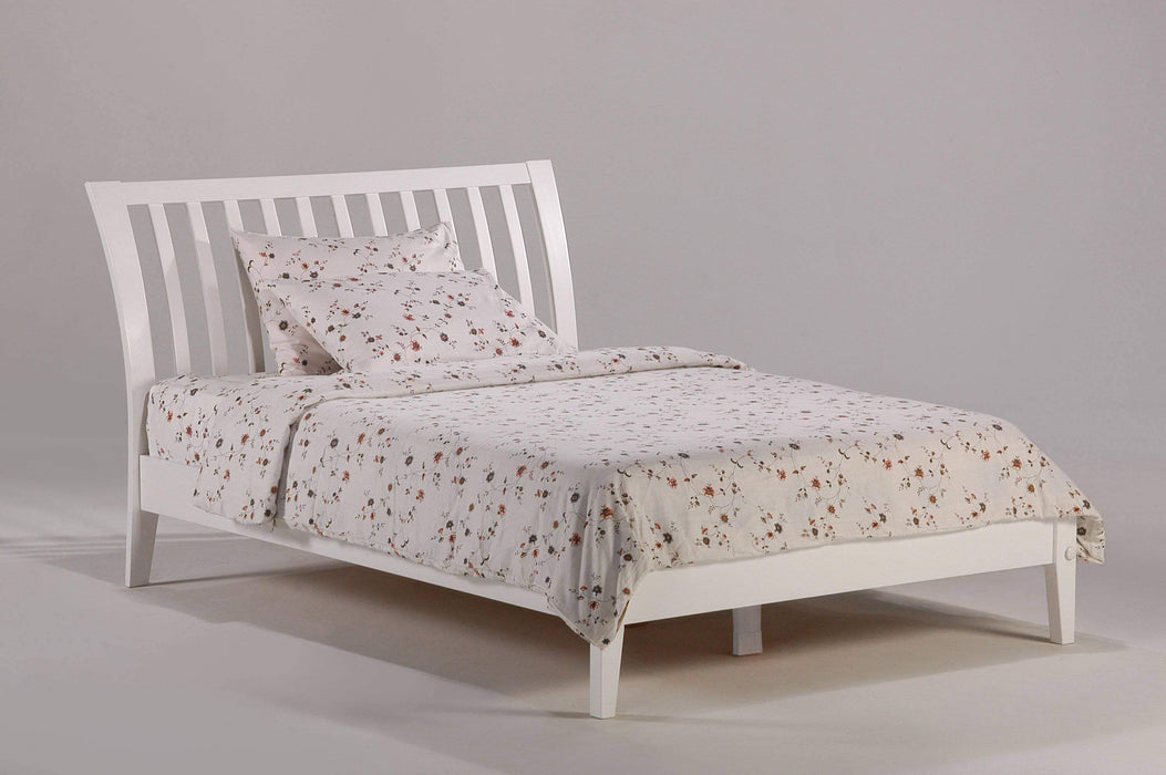 Night and Day Platform Beds Full / White Nutmeg Platform Bed - Available in 6 Colours
