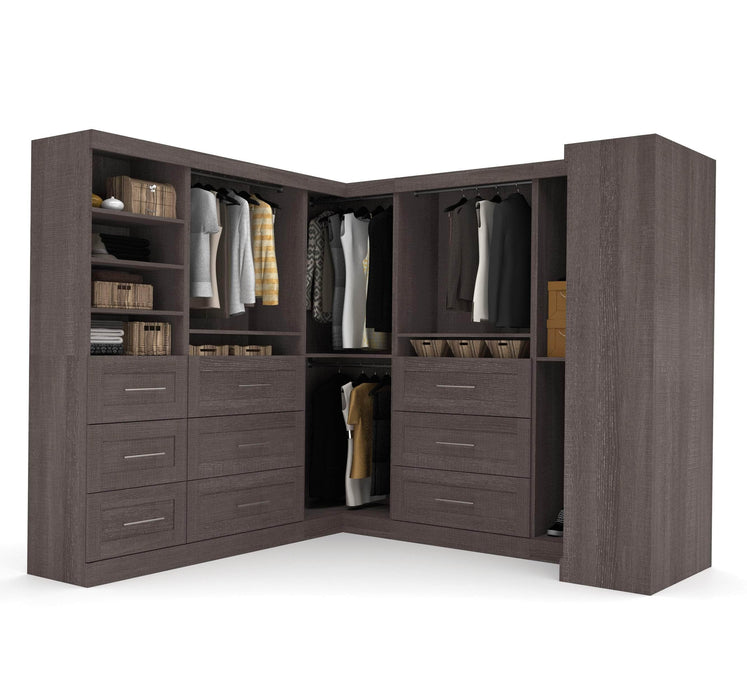 Pending - Bestar Closet Organizer Bark Grey Pur Walk-In Closet Organizer Set - Available in 2 Colours