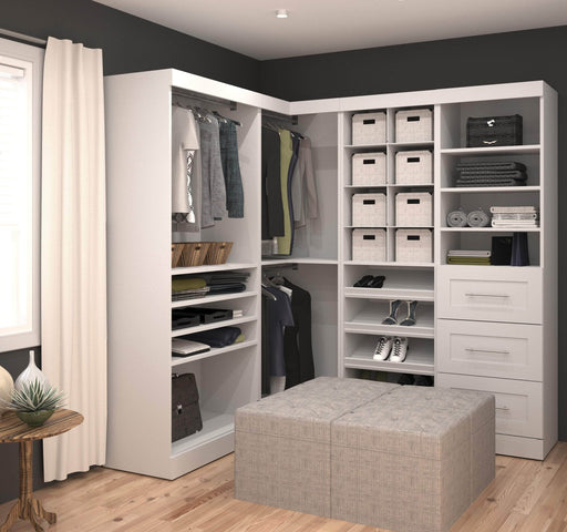 Pending - Bestar Closet Organizer Pur 83W Walk-In Closet Organizer - Available in 2 Colours