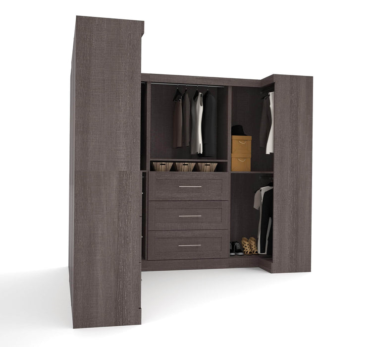 Pending - Bestar Closet Organizer Pur Walk-In Closet Organizer Set - Available in 2 Colours