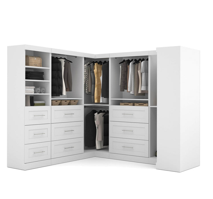 Pending - Bestar Closet Organizer White Pur Walk-In Closet Organizer Set - Available in 2 Colours