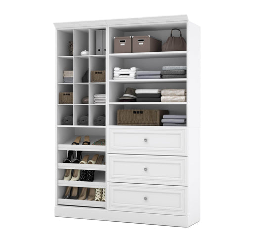 "Pending - Bestar Closet Organizer White Versatile 61"" Closet Organizer with Storage Cubbies and Drawers - White"
