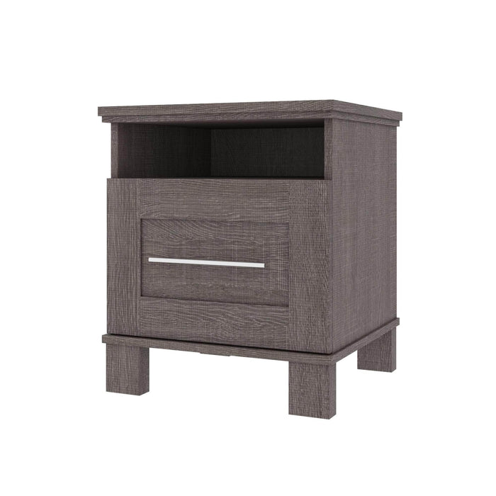 Pending - Bestar Nightstands Bark Grey Pur 20W Nightstand With Drawer - Available in 2 Colours