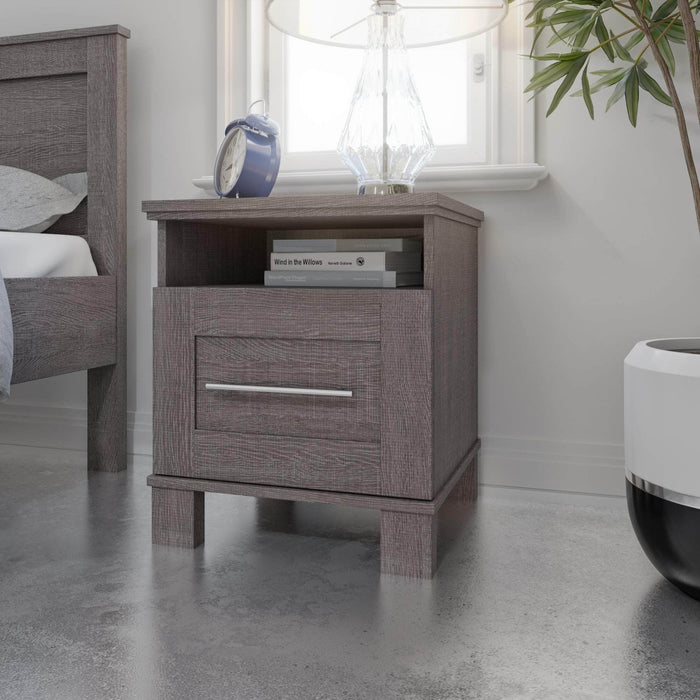 Pending - Bestar Nightstands Pur 20W Nightstand With Drawer - Available in 2 Colours