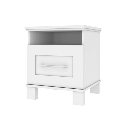 Pending - Bestar Nightstands White Pur 20W Nightstand With Drawer - Available in 2 Colours