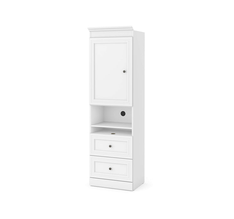 "Pending - Bestar Storage Unit White Versatile 25"" Storage Unit with Mobile Nightstand - Available in 2 Colours"