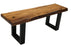 "Pending - Corcoran Bench Black U Legs ZZZZX No Pics - Live Edge Acacia Bench L 48"" - Available with 6 Leg Styles"