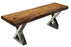 "Pending - Corcoran Bench ZZZZX No Pics - Live Edge Acacia Bench L 48"" - Available with 6 Leg Styles"