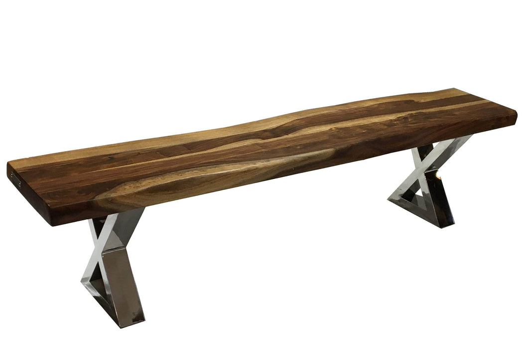 "Pending - Corcoran Bench ZZZZX No Pics - Live Edge Sheesham Bench L 72"" - Available with 6 Leg Styles"