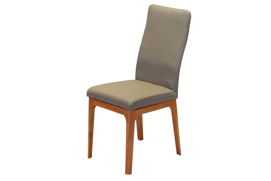 Corcoran Chair Grey Leather Chairs (Set of 2) - Available in 3 Colours