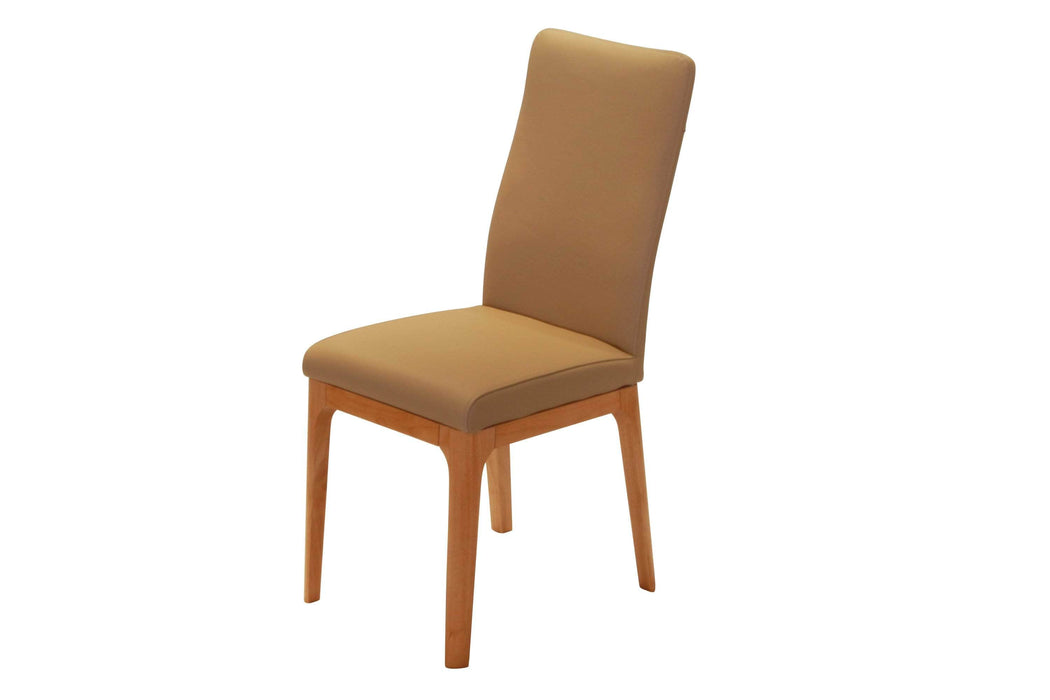 Corcoran Chair Moka Leather Chairs (Set of 2) - Available in 3 Colours