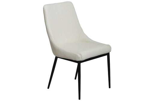 Corcoran Chair White Leather Chairs (Set of 2) - Available in 3 Colours