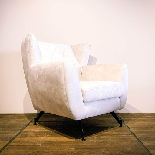 Corcoran Sofa Chair Beige Accent Sofa Chair Made In Velvet