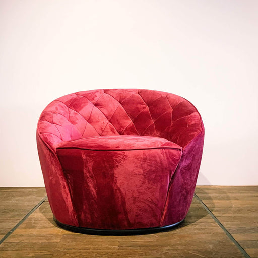 Corcoran Sofa Chair Ruby Red Accent Sofa Chair Made In Velvet