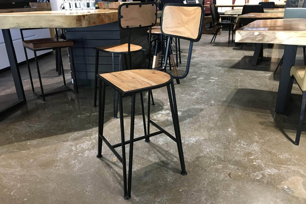 Corcoran Stool Stool With Backrest