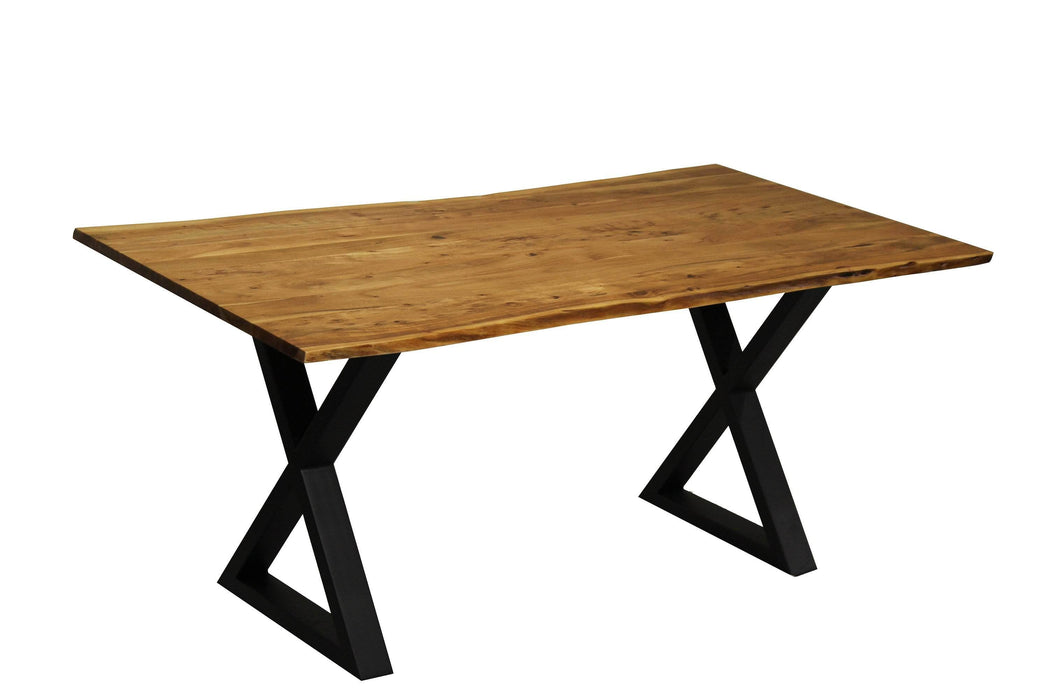 "Corcoran Table 67"" Live Edge Acacia Table - Available with 4 Leg Styles"