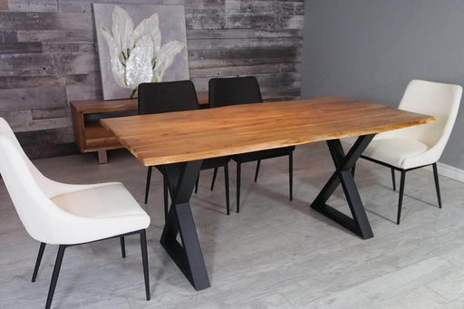 "Corcoran Table 67"" Live Edge Acacia Dining Table - Available with 4 Leg Styles"