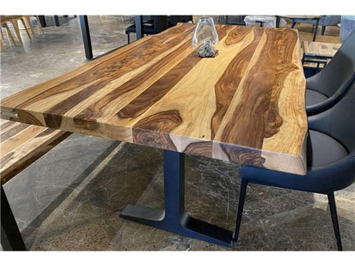 "Corcoran Table 72"" Live Edge  Sheesham Dining Table - Available with 6 Leg Styles"