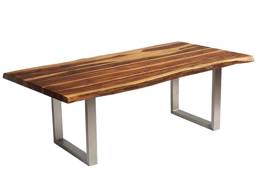 "Corcoran Table 84"" Live Edge Sheesham Table - Available with 8 Leg Styles"