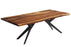 "Corcoran Table Airloft Legs 84"" Live Edge Sheesham Table - Available with 8 Leg Styles"