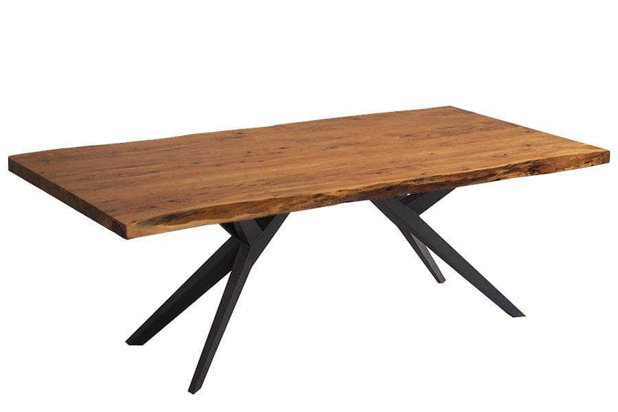 "Corcoran Table Airloft Legs 96"" Live Edge Acacia Table - Available with 8 Leg Styles"