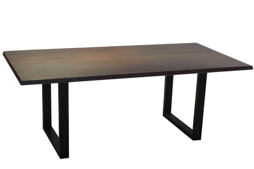 Corcoran Table Black U Legs Dark Acacia 80'' Dining Table - Available with 4 Leg Styles