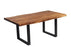 "Pending - Corcoran Table Black U Legs Live Edge Acacia Table L 72"" - Available with 6 Leg Styles"