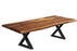 "Corcoran Table Black X Legs 84"" Live Edge Sheesham Table - Available with 8 Leg Styles"