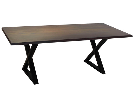 Corcoran Table Black X Legs Dark Acacia 80'' Dining Table - Available with 4 Leg Styles