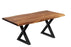 "Pending - Corcoran Table Black X Legs Live Edge Acacia Table L 72"" - Available with 6 Leg Styles"