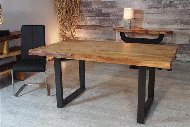 "Corcoran Table Extendable Live Edge Acacia Table L 64"" (96"") - Available with 6 Leg Styles"